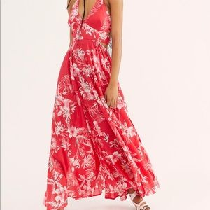 NEW Free People Red Maxi Dress Size Small